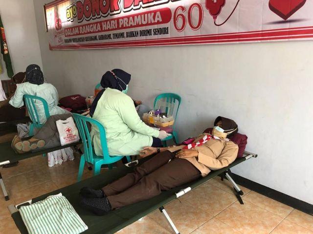 Donor Darah Dalam Rangka Hari Pramuka ke 60
