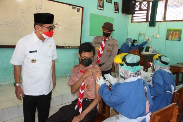 Kwarcab Pramuka Kota Blitar Gelar Vaksinasi Covid-19, Targetkan Seribu Siswa